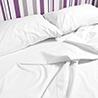 Juego de sábanas blancas percal 100%