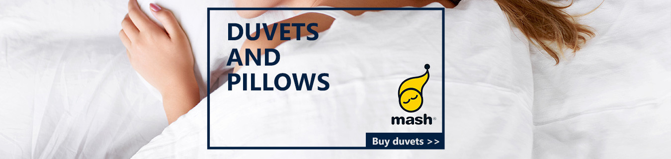 Mash pillows and duvets