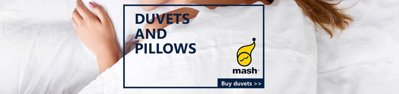 Mash pillows and duvets