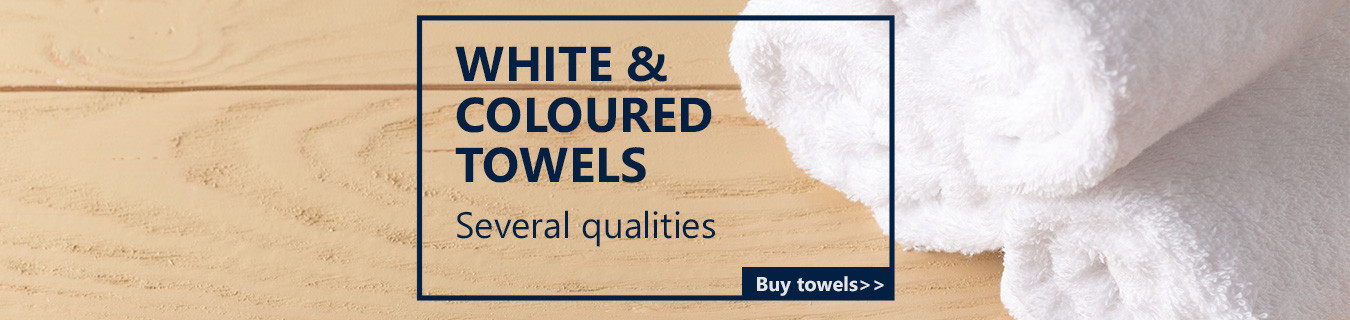 White and colour towels
